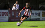 Ella Pusey during the FA Women's National League, Div One South West match between Southampton FC Women and Southampton Women, at the Testwood Community Stadium, AFC Totton, Southampton, 4th September 2019 (pic by Isabelle Field)