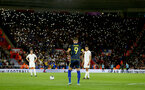 SOUTHAMPTON, ENGLAND - SEPTEMBER 10: Trent Alexander-Arnold of England lines up a free kick in front of fans with mobile phone lights during the UEFA Euro 2020 qualifier match between England and Kosovo at St. Mary's Stadium on September 10, 2019 in Southampton, England. (Photo by Matt Watson/Southampton FC via Getty Images)