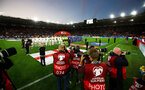SOUTHAMPTON, ENGLAND - SEPTEMBER 10: Photographers capture the tems as they line up  during the UEFA Euro 2020 qualifier match between England and Kosovo at St. Mary's Stadium on September 10, 2019 in Southampton, England. (Photo by Matt Watson/Southampton FC via Getty Images)