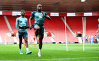 SOUTHAMPTON, ENGLAND - SEPTEMBER 12: Michael Obafemi during a Southampton FC training session at St Mary's stadium on September 12, 2019 in Southampton, England. (Photo by Matt Watson/Southampton FC via Getty Images)