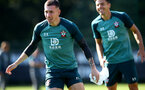 SOUTHAMPTON, ENGLAND - SEPTEMBER 19: Pierre-Emile Hojbjerg during a Southampton FC training session at the Staplewood Campus on September 19, 2019 in Southampton, England. (Photo by Matt Watson/Southampton FC via Getty Images)