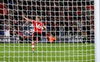 SOUTHAMPTON, ENGLAND - SEPTEMBER 20: James Ward-Prowse of Southampton celebrates after scoring from the penalty spot during the Premier League match between Southampton FC and AFC Bournemouth  at St Mary's Stadium on September 20, 2019 in Southampton, United Kingdom. (Photo by Matt Watson/Southampton FC via Getty Images)