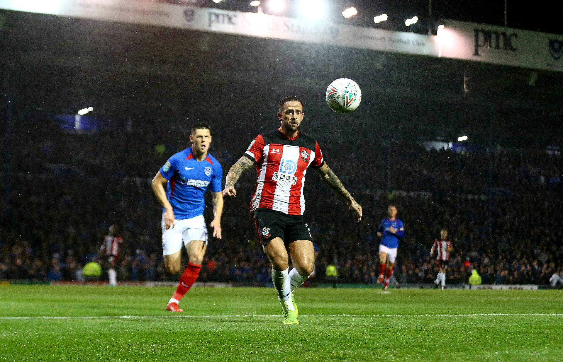 PORTSMOUTH, ENGLAND - SEPTEMBER 24: Danny Ingsof Southampton during the Carabao Cup Third Round match between Portsmouth and Southampton at Fratton Park on September 24, 2019 in Portsmouth, England. (Photo by Matt Watson/Southampton FC via Getty Images)
