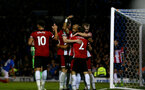 PORTSMOUTH, ENGLAND - SEPTEMBER 24: Players celebrate with Nathan Redmond of Southampton during the Carabao Cup Third Round match between Portsmouth and Southampton at Fratton Park on September 24, 2019 in Portsmouth, England. (Photo by Matt Watson/Southampton FC via Getty Images)