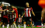 PORTSMOUTH, ENGLAND - SEPTEMBER 24: Jan Bednarek of Southampton celebrtes during the Carabao Cup Third Round match between Portsmouth and Southampton at Fratton Park on September 24, 2019 in Portsmouth, England. (Photo by Matt Watson/Southampton FC via Getty Images)