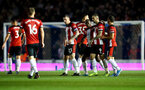 PORTSMOUTH, ENGLAND - SEPTEMBER 24: Danny Ings of Southampton celebrates with his team mates during the Carabao Cup Third Round match between Portsmouth and Southampton at Fratton Park on September 24, 2019 in Portsmouth, England. (Photo by Matt Watson/Southampton FC via Getty Images)