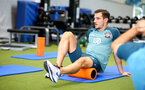 SOUTHAMPTON, ENGLAND - SEPTEMBER 25: Cedric Soares during a Southampton FC training/recovery session at Staplewood Complex on September 25, 2019 in Southampton, England. (Photo by Matt Watson/Southampton FC via Getty Images)