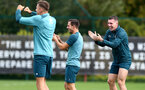 SOUTHAMPTON, ENGLAND - SEPTEMBER 26: Pierre-Emile Hojbjerg(R) during a Southampton FC training session at the Staplewood Campus on September 26, 2019 in Southampton, England. (Photo by Matt Watson/Southampton FC via Getty Images)