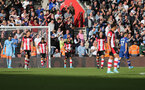 SOUTHAMPTON, ENGLAND - OCTOBER 06: Saints after conceding the fourth during the Premier League match between Southampton FC and Chelsea FC at St Mary's Stadium on October 5, 2019 in Southampton, United Kingdom. (Photo by Chris Moorhouse/Southampton FC via Getty Images)