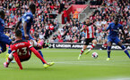 SOUTHAMPTON, ENGLAND - OCTOBER 06: Danny Ings scores during the Premier League match between Southampton FC and Chelsea FC at St Mary's Stadium on October 5, 2019 in Southampton, United Kingdom. (Photo by Chris Moorhouse/Southampton FC via Getty Images)