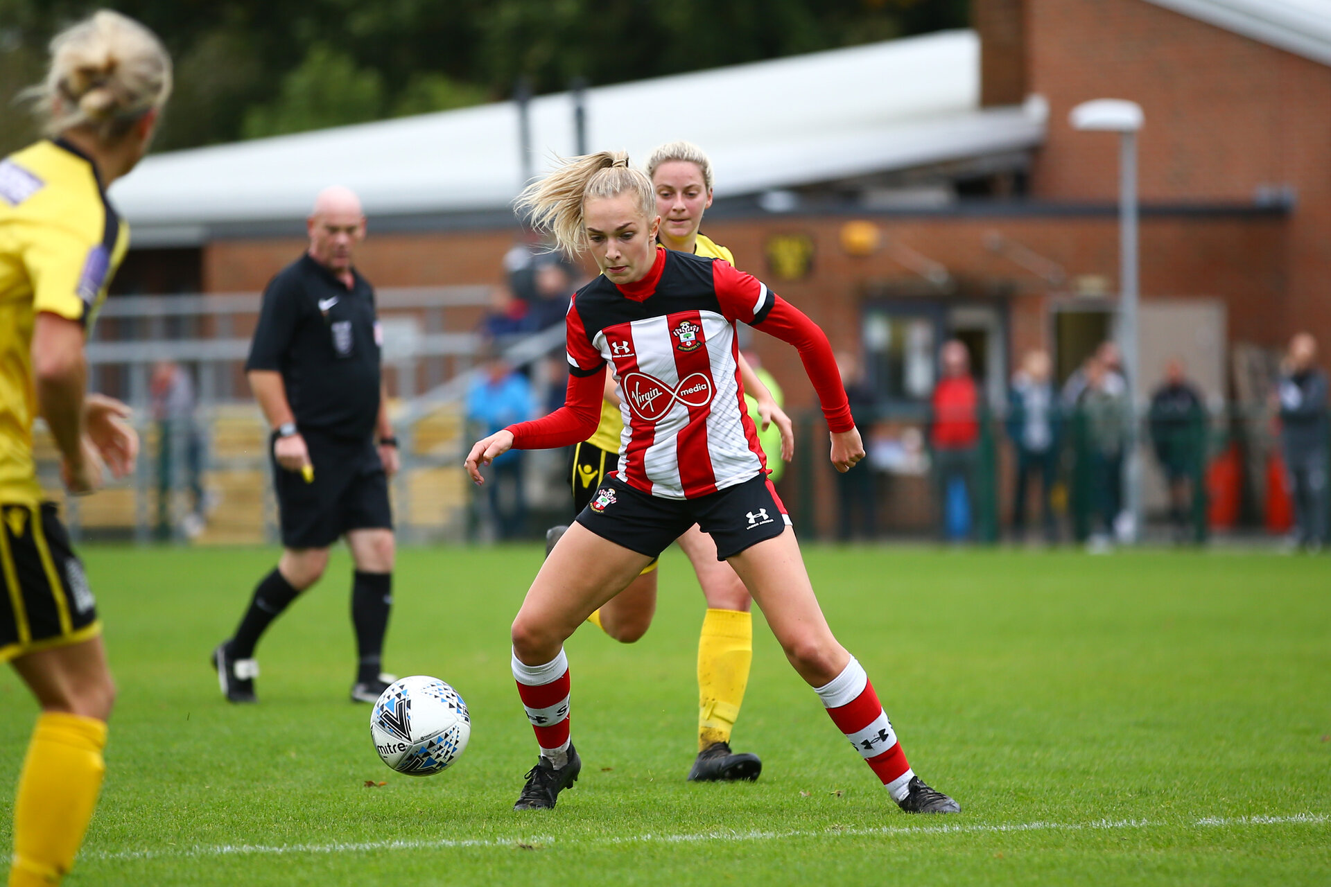 Phoebe Williams during the Woman's FA Cup, first round between Southampton FC Women and Buckland Athletic, at the Testwood Community Stadium, AFC Totton, Southampton, 13th October 2019 (pic by Isabelle Field)
