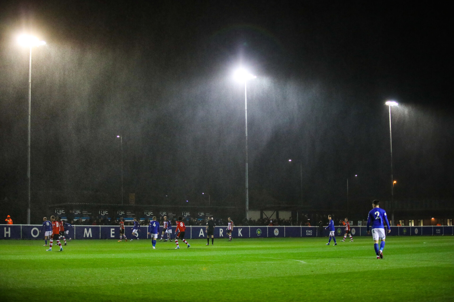 LEICESTER, ENGLAND - OCTOBER 25: General view of Holmes Park prior to the Premier League 2 match between Leicester City and Southampton FC at Holmes Park on October 25, 2019 in Leicester, England during the Premier League 2 match between Leicester City and Southampton FC at Holmes Park on October 25, 2019 in Leicester, England