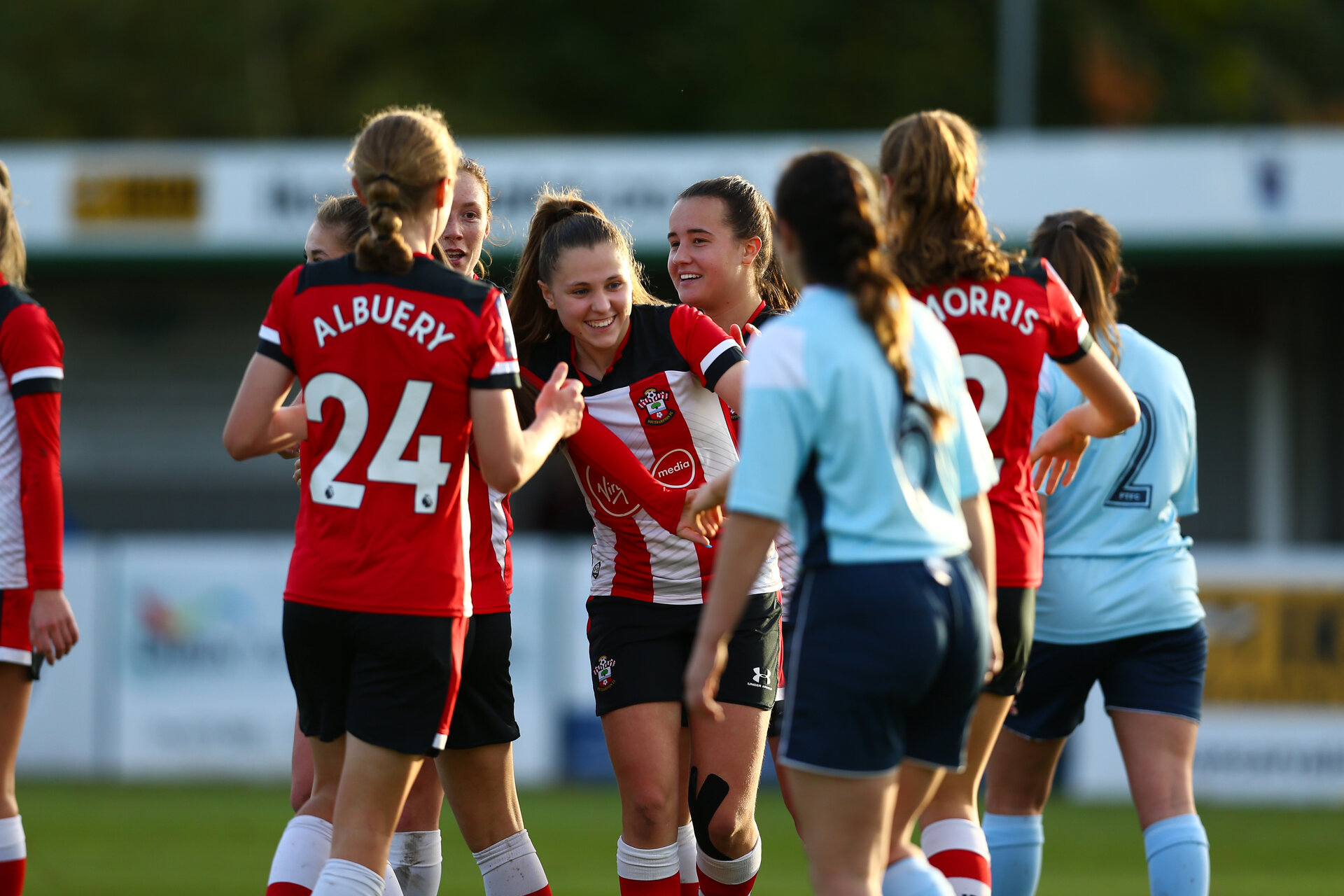 Alisha Ware during Women's FA Cup second round between Southampton FC Women's  and Pool Town at AFC Totton, Testwood Community Stadium, AFC Totton, Southampton 27th October 2019 (pic Isabelle Field)