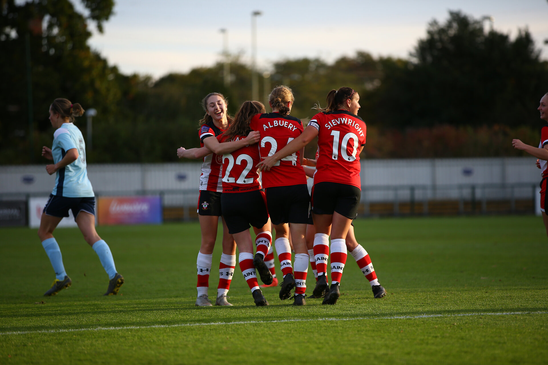 during Women's FA Cup second round between Southampton FC Women's  and Pool Town at AFC Totton, Testwood Community Stadium, AFC Totton, Southampton 27th October 2019 (pic Isabelle Field)