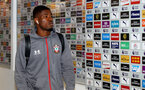 MANCHESTER, ENGLAND - OCTOBER 29:  Kevin Danso of Southampton ahead of the Carabao Cup Round of 16 match between Manchester City and Southampton FC at the Etihad Stadium on October 29, 2019 in Manchester, England. (Photo by Matt Watson/Southampton FC via Getty Images)