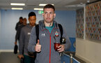 MANCHESTER, ENGLAND - OCTOBER 29:  Pierre-Emile Hojbjerg of Southampton ahead of the Carabao Cup Round of 16 match between Manchester City and Southampton FC at the Etihad Stadium on October 29, 2019 in Manchester, England. (Photo by Matt Watson/Southampton FC via Getty Images)