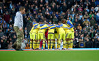 MANCHESTER, ENGLAND - NOVEMBER 02: Saints players huddle during the Premier League match between Manchester City and Southampton FC at Etihad Stadium on November 02, 2019 in Manchester, United Kingdom. (Photo by Matt Watson/Southampton FC via Getty Images)
