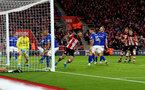 SOUTHAMPTON, ENGLAND - NOVEMBER 09: Danny Ings(centre obscure) of Southampton scores to make it 1-1 during the Premier League match between Southampton FC and Everton FC at St Mary's Stadium on November 09, 2019 in Southampton, United Kingdom. (Photo by Matt Watson/Southampton FC via Getty Images)