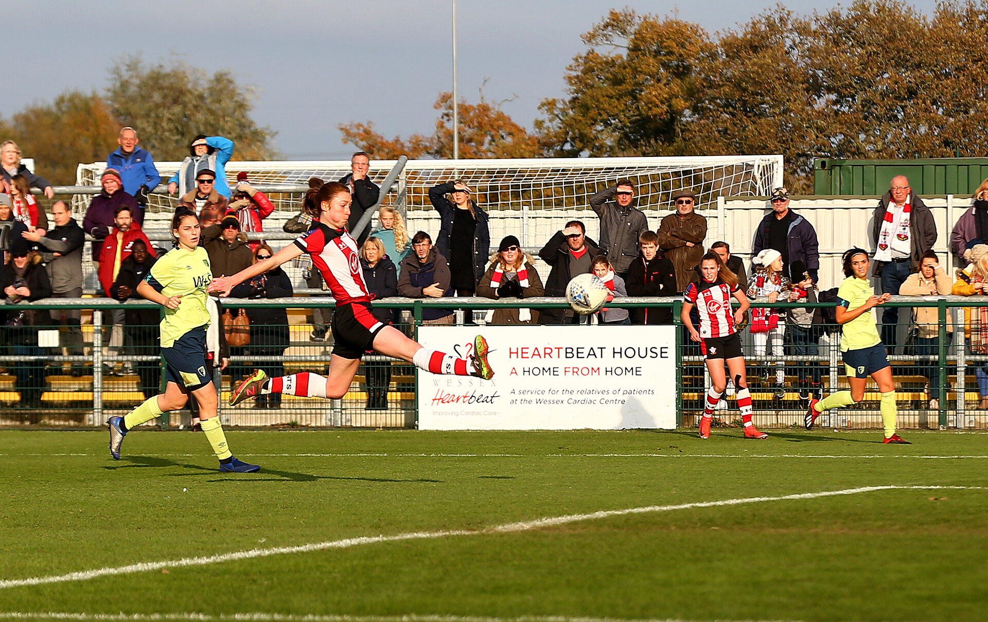 SOUTHAMPTON, ENGLAND - NOVEMBER 17: Rachel Panting of Southampton scores during the Womens Hampshire Cup round 2 match between Southampton FC Women and AFC Bournemouth Women, at the Snows stadium AFC Totton, on November 17, 2019 in Southampton, England. (Photo by Matt Watson/Southampton FC via Getty Images)