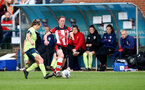 SOUTHAMPTON, ENGLAND - NOVEMBER 17: Rachel Panting during Womens Hampshire Cup round 2 match between Southampton FC Women and AFC Bournemouth Women, at the Snows stadium AFC Totton, on November 17, 2019 in Southampton, England. (Photo by Matt Watson/Southampton FC via Getty Images)