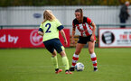 SOUTHAMPTON, ENGLAND - NOVEMBER 17: Kirsty Whitton during Womens Hampshire Cup round 2 match between Southampton FC Women and AFC Bournemouth Women, at the Snows stadium AFC Totton, on November 17, 2019 in Southampton, England. (Photo by Matt Watson/Southampton FC via Getty Images)