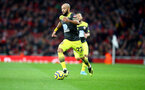 LONDON, ENGLAND - NOVEMBER 23: Nathan Redmond of Southampton during the Premier League match between Arsenal FC and Southampton FC at Emirates Stadium on November 23, 2019 in London, United Kingdom. (Photo by Matt Watson/Southampton FC via Getty Images)