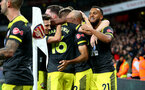 LONDON, ENGLAND - NOVEMBER 23: Southampton players celebrate during the Premier League match between Arsenal FC and Southampton FC at Emirates Stadium on November 23, 2019 in London, United Kingdom. (Photo by Matt Watson/Southampton FC via Getty Images)