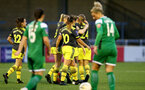 YEOVIL, ENGLAND - November 24: team goal celebration during the SRWFL at The Avenue between Yeovil and Southampton Women on November 24 2019, Yeovil, England. (Photo by Isabelle Field/Southampton FC via Getty Images)