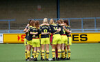 YEOVIL, ENGLAND - November 24: team huddle during the SRWFL at The Avenue between Yeovil and Southampton Women on November 24 2019, Yeovil, England. (Photo by Isabelle Field/Southampton FC via Getty Images)