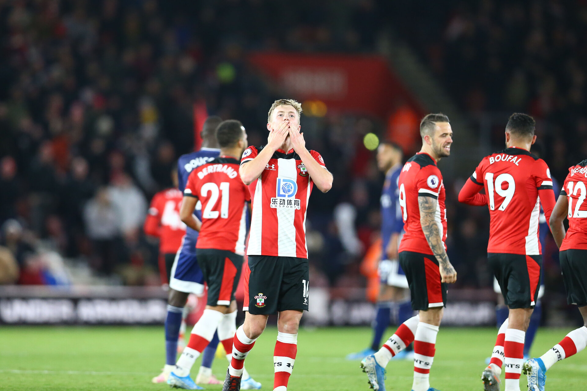 SOUTHAMPTON, ENGLAND - NOVEMBER 30: James Ward-Prowse during the Premier League match between Southampton FC and Watford FC at St Mary's Stadium on November 30, 2019 in Southampton, United Kingdom. (Photo by Isabelle Field/Southampton FC via Getty Images)