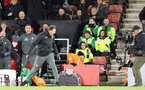 SOUTHAMPTON, ENGLAND - NOVEMBER 30: Ralph Hasenhüttl celebrates at full-time during the Premier League match between Southampton FC and Watford FC at St Mary's Stadium on November 30, 2019 in Southampton, United Kingdom. (Photo by Chris Moorhouse/Southampton FC via Getty Images)