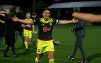 YEOVIL, ENGLAND - DECEMBER 01: Shannon Siewright penalties celebration during the FA Cup, second round, at The Avenue between Yeovil and Southampton Women on December 01 2019, Yeovil, England. (Photo by Isabelle Field/Southampton FC via Getty Images)