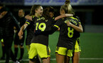 YEOVIL, ENGLAND - DECEMBER 01: penalties celebration during the FA Cup, second round, at The Avenue between Yeovil and Southampton Women on December 01 2019, Yeovil, England. (Photo by Isabelle Field/Southampton FC via Getty Images)