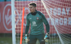 SOUTHAMPTON, ENGLAND - DECEMBER 02: Harry Lewis during a Southampton FC training session at the Staplewood Campus on December 02, 2019 in Southampton, England. (Photo by Matt Watson/Southampton FC via Getty Images)