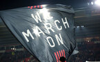 SOUTHAMPTON, ENGLAND - DECEMBER 4: We March On flag during the Premier League match between Southampton FC and with Norwich City FC at St Mary's Stadium on December 4, 2019 in Southampton, United Kingdom. (Photo by Chris Moorhouse/Southampton FC via Getty Images)