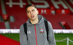 SOUTHAMPTON, ENGLAND - DECEMBER 04: Jan Bednarek during the Premier League match between Southampton FC and Norwich City at St Mary's Stadium on December 04, 2019 in Southampton, United Kingdom. (Photo by Matt Watson/Southampton FC via Getty Images)
