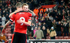 SOUTHAMPTON, ENGLAND - DECEMBER 04: James Ward-Prowse(R) celebrates with Danny Ings during the Premier League match between Southampton FC and Norwich City at St Mary's Stadium on December 04, 2019 in Southampton, United Kingdom. (Photo by Matt Watson/Southampton FC via Getty Images)