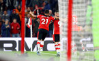 SOUTHAMPTON, ENGLAND - DECEMBER 04: Ryan Bertrand of Southampton celebrates during the Premier League match between Southampton FC and Norwich City at St Mary's Stadium on December 04, 2019 in Southampton, United Kingdom. (Photo by Matt Watson/Southampton FC via Getty Images)