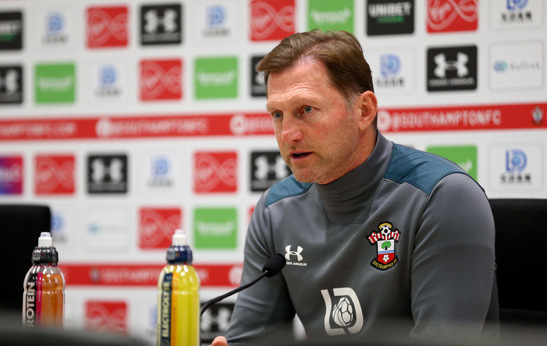 SOUTHAMPTON, ENGLAND - DECEMBER 06: Manager Ralph Hasenhuttl during a Southampton FC press conference at the Staplewood Campus on December 06, 2019 in Southampton, England. (Photo by Matt Watson/Southampton FC via Getty Images)