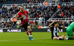 NEWCASTLE UPON TYNE, ENGLAND - DECEMBER 08: Danny Ings of Southampton celebrates during the Premier League match between Newcastle United and Southampton FC at St. James Park on December 08, 2019 in Newcastle upon Tyne, United Kingdom. (Photo by Matt Watson/Southampton FC via Getty Images)