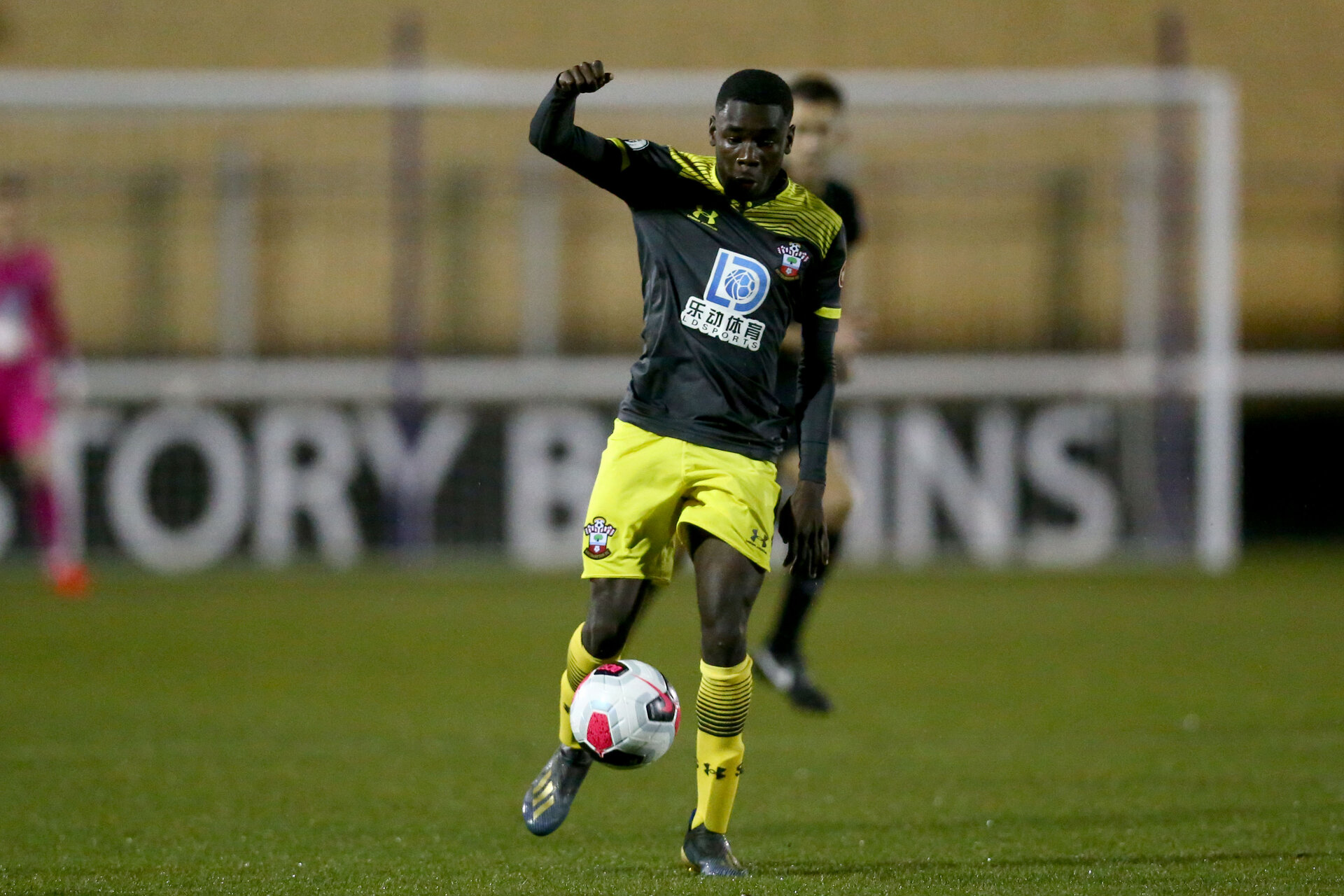 LOUGHBOUROUGH, ENGLAND - DECEMBER 10: Lucas Defise during Premier League International Cup match between Derby County and Southampton at Loughborough University Stadium on December 10 2019 in Loughborough, England (Photo by Isabelle Field/Southampton FC via Getty Images)