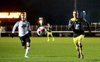 LOUGHBOUROUGH, ENGLAND - DECEMBER 10: Kornelious Hansen during Premier League International Cup match between Derby County and Southampton at Loughborough University Stadium on December 10 2019 in Loughborough, England (Photo by Isabelle Field/Southampton FC via Getty Images)