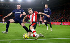 SOUTHAMPTON, ENGLAND - DECEMBER 14: Stuart Armstrong of Southampton during the Premier League match between Southampton FC and West Ham United at St Mary's Stadium on December 14, 2019 in Southampton, United Kingdom. (Photo by Matt Watson/Southampton FC via Getty Images)