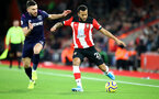 SOUTHAMPTON, ENGLAND - DECEMBER 14: Robert Snodgrass(L) of West Ham United and Ryan Bertrand(R) of Southampton during the Premier League match between Southampton FC and West Ham United at St Mary's Stadium on December 14, 2019 in Southampton, United Kingdom. (Photo by Matt Watson/Southampton FC via Getty Images)