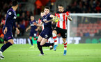 SOUTHAMPTON, ENGLAND - DECEMBER 14: Declan Rice(L) of West Ham United and Danny Ings(R) of Southampton during the Premier League match between Southampton FC and West Ham United at St Mary's Stadium on December 14, 2019 in Southampton, United Kingdom. (Photo by Matt Watson/Southampton FC via Getty Images)