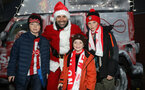 SOUTHAMPTON, ENGLAND - DECEMBER 14: Saints fans during the Premier League match between Southampton FC and West Ham United at St Mary's Stadium on December 14, 2019 in Southampton, United Kingdom. (Photo by Chris Moorhouse/Southampton FC via Getty Images)