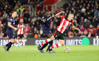 SOUTHAMPTON, ENGLAND - DECEMBER 14: Oriol Romeu during the Premier League match between Southampton FC and West Ham United at St Mary's Stadium on December 14, 2019 in Southampton, United Kingdom. (Photo by Chris Moorhouse/Southampton FC via Getty Images)