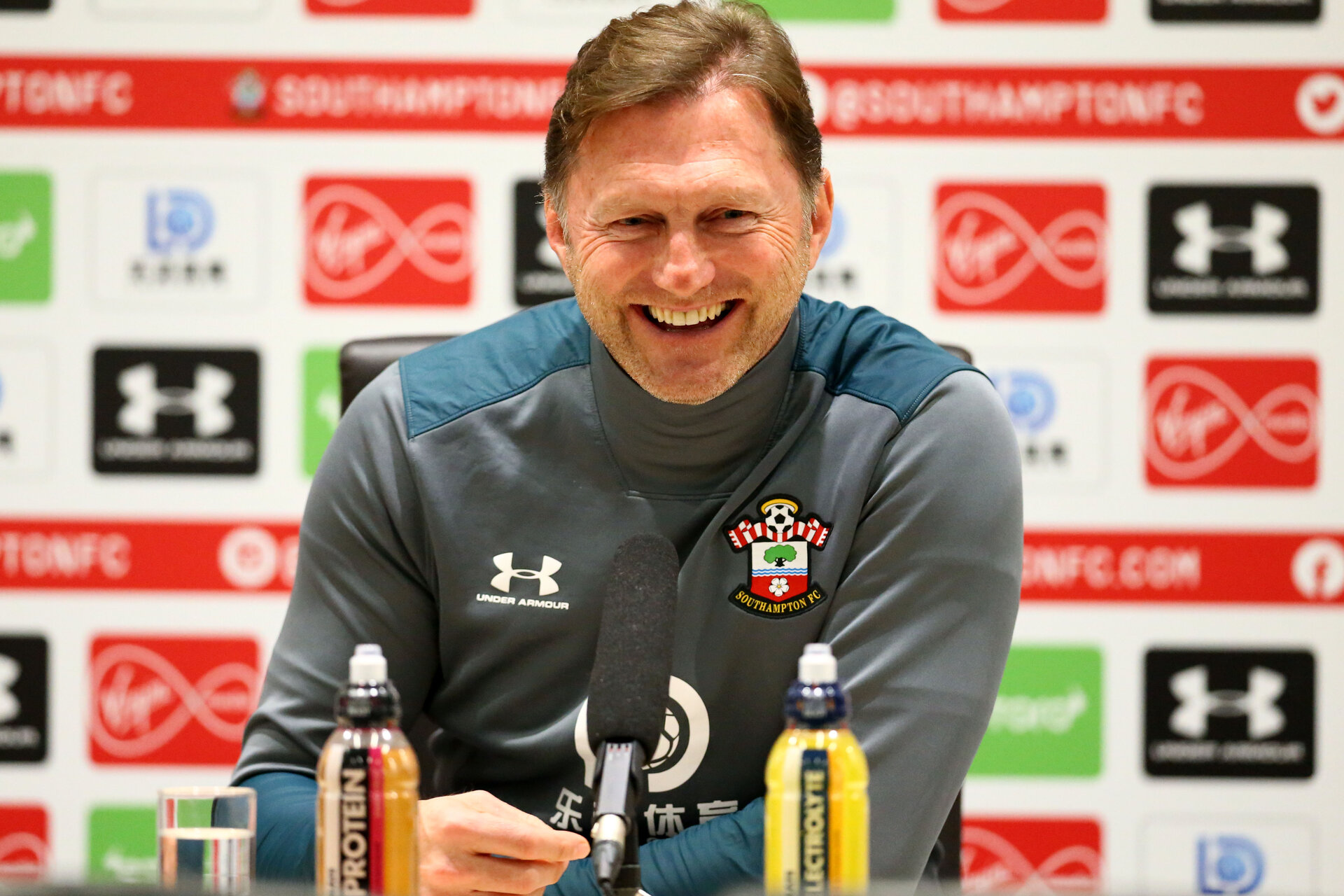 SOUTHAMPTON, ENGLAND - DECEMBER 19: during a Southampton FC Press Conference with Manager Ralph Hasenhuttl at the Staplewood Campus on December 19, 2019 in Southampton, England. (Photo by Isabelle Field/Southampton FC via Getty Images)