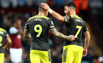 BIRMINGHAM, ENGLAND - DECEMBER 21: Danny Ings(L) and Shane Long during the Premier League match between Aston Villa and Southampton FC at Villa Park on December 21, 2019 in Birmingham, United Kingdom. (Photo by Matt Watson/Southampton FC via Getty Images)