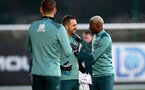 SOUTHAMPTON, ENGLAND - DECEMBER 25: Danny Ings(L) and Moussa Djenepo during a Christmas day training session at the Staplewood Campus on December 25, 2019 in Southampton, England. (Photo by Matt Watson/Southampton FC via Getty Images)